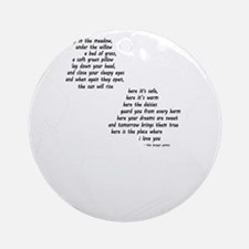 rues lullaby black and white for bl Round Ornament