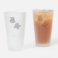 rues lullaby black and white for bl Drinking Glass