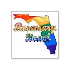 "Rosemary Beach Square Sticker 3"" x 3"""
