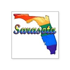 "Sarasota Square Sticker 3"" x 3"""
