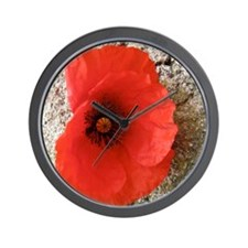 Poppy and a Hard Place Wall Clock