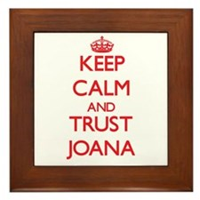 Keep Calm and TRUST Joana Framed Tile