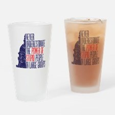 stupid people copy Drinking Glass