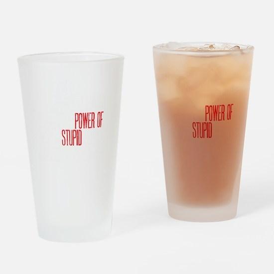 stupid peopledrk copy Drinking Glass