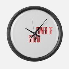 stupid peopledrk copy Large Wall Clock