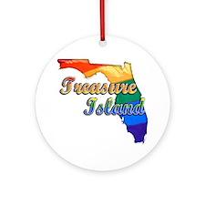 Treasure Island Round Ornament