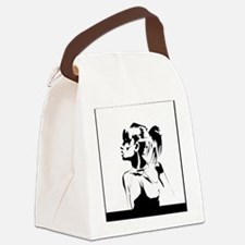 pose for cafepress print Canvas Lunch Bag