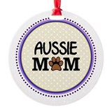 Aussie mom Round Ornament