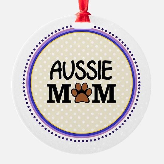 Aussie Dog Mom Ornament