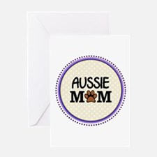 Aussie Dog Mom Greeting Cards