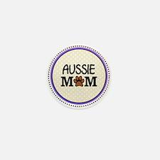 Aussie Dog Mom Mini Button