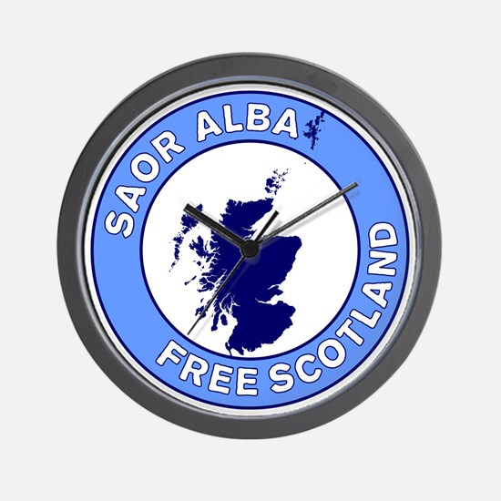 Saor Alba Free Scotland Wall Clock