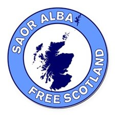 Saor Alba Free Scotland Round Car Magnet