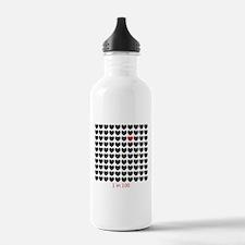 Cute Captain planet heart Water Bottle