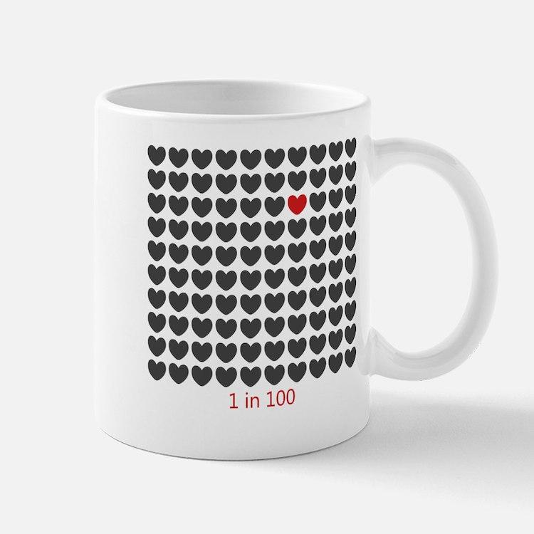 One in One Hundred CHD Awareness Mugs