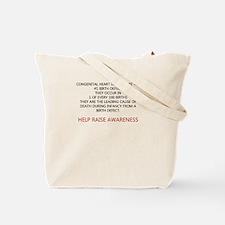 Chd awareness Tote Bag
