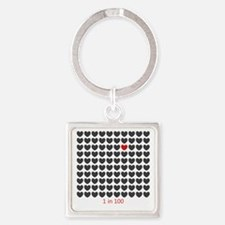Unique Chd Square Keychain