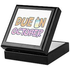 Due In October Girl Keepsake Box
