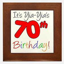 YIa-Yias 70th birthday Framed Tile