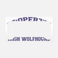 irishwolfhoundproperty License Plate Holder