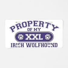 irishwolfhoundproperty Aluminum License Plate