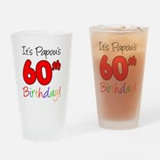 Papous 60th Birthday Drinking Glass
