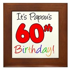 Papous 60th Birthday Framed Tile