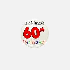 Papous 60th Birthday Mini Button