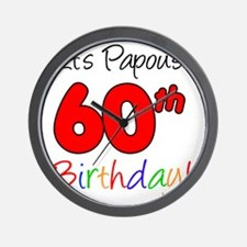 Papous 60th Birthday Wall Clock