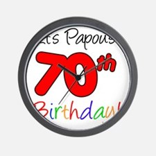 Papous 70th Birthday Wall Clock
