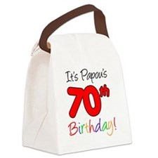 Papous 70th Birthday Canvas Lunch Bag