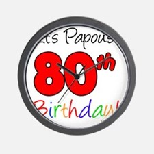 Papous 80th Birthday Wall Clock