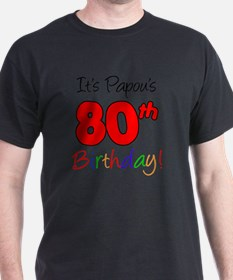 Papous 80th Birthday T-Shirt