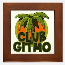 Club Gitmo Framed Tile