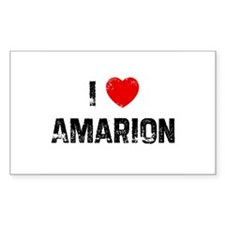 I * Amarion Rectangle Decal