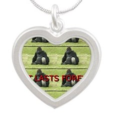 A FAMILY is a gift Silver Heart Necklace