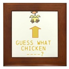 Guess What Chicken ? Framed Tile
