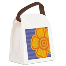 mensWalletYellowFlower Canvas Lunch Bag