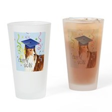 sheltie grad-tile Drinking Glass