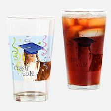 sheltie grad-tile Drinking Glass