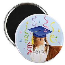 sheltie grad-button Magnet