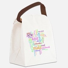 Word jumble craft Canvas Lunch Bag