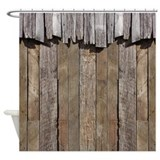 Barn wood shower curtain Shower Curtains