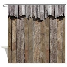 Rustic Old Barn Wood Shower Curtain