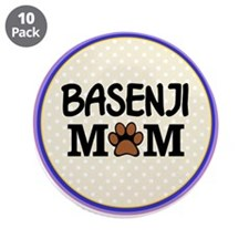 "Basenji Dog Mom 3.5"" Button (10 pack)"