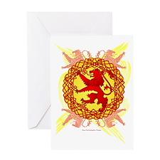 Celtic Art Scottish Rampant Lion Greeting Card
