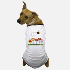 Bee Buzzing Flower Garden Shower Curta Dog T-Shirt