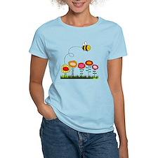 Bee Buzzing Flower Garden Sh T-Shirt