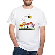 Bee Buzzing Flower Garden Shower  Shirt