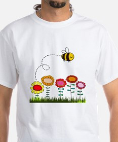 Bee Buzzing Flower Garden Shower  Shirt